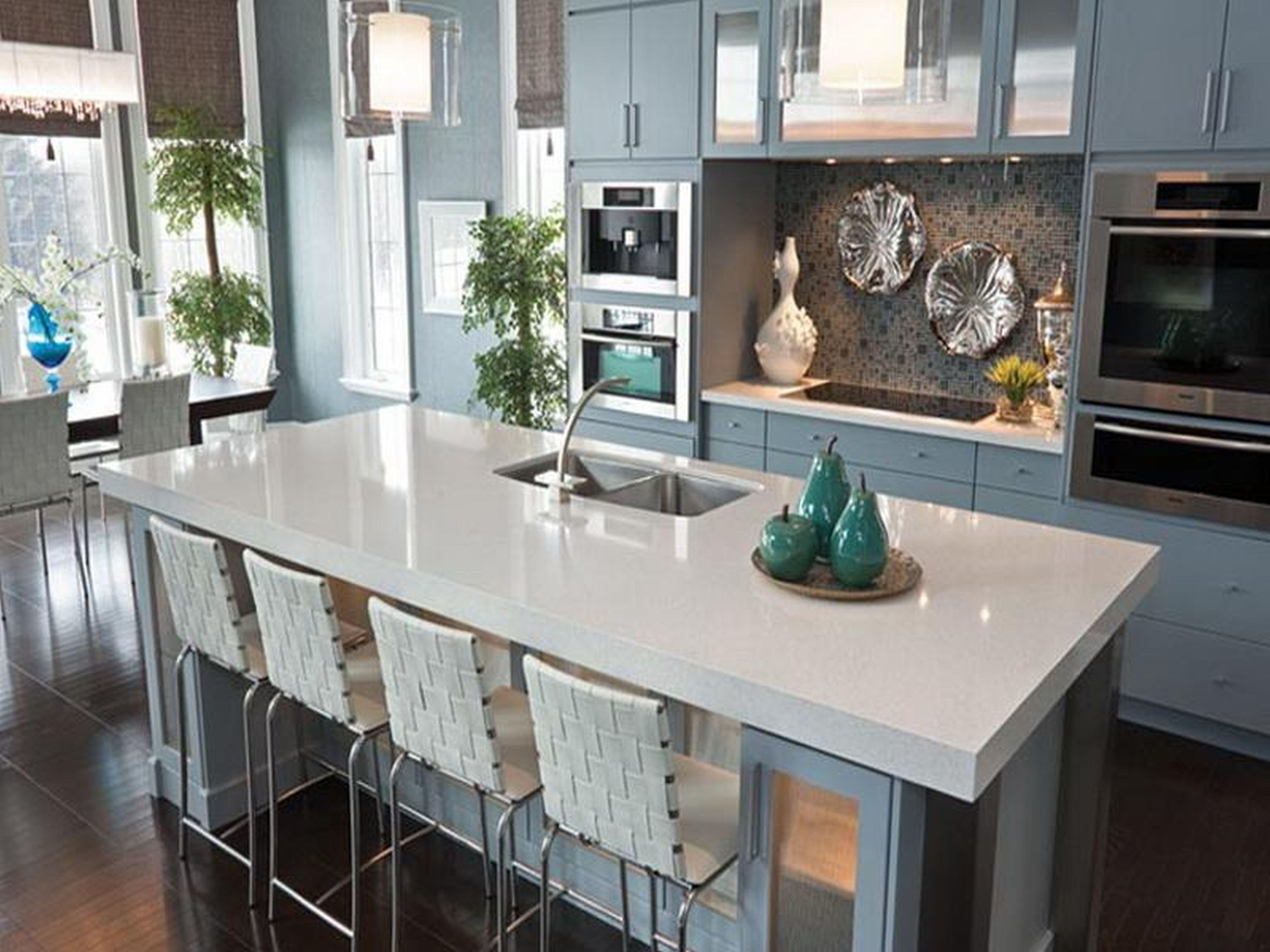 cost of quartz countertop cost of kitchen countertops Kitchen Cool Blue Quartz Countertops Cambria White