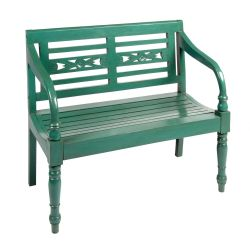 Green Wood Garden Bench With Cutouts Christmas Tree Shops Andthat