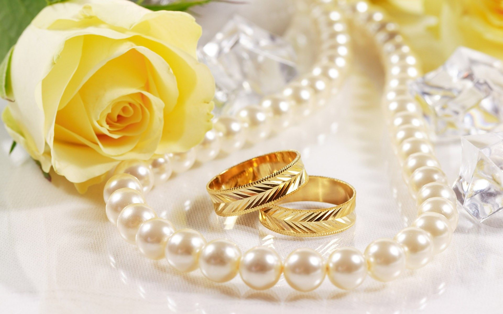 pics of wedding rings Wedding Ring and Flower Rose Wallpaper HD 11 High Resolution Wallpaper Full Size