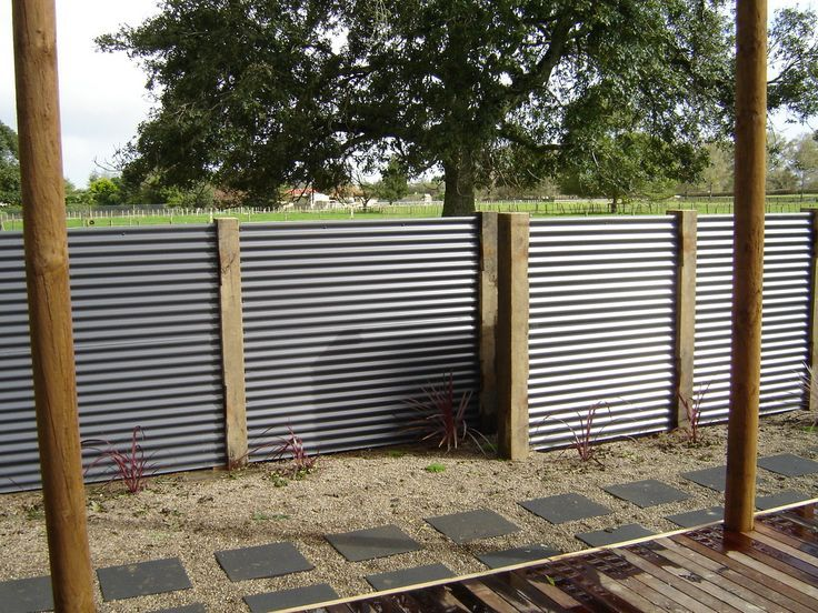 Wonderful Sheet Metal Fence Corrugated Ideas With Decorating