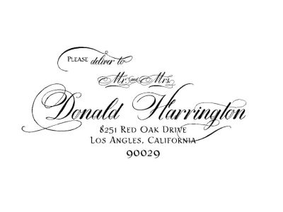 Wedding Invitation with Dom Loves Mary Calligraphy Font ...