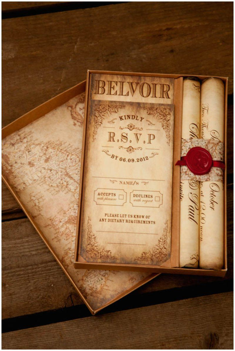 scroll wedding invitations Montecristo Scroll Wedding Invitation Truly Madly Dottie Blog