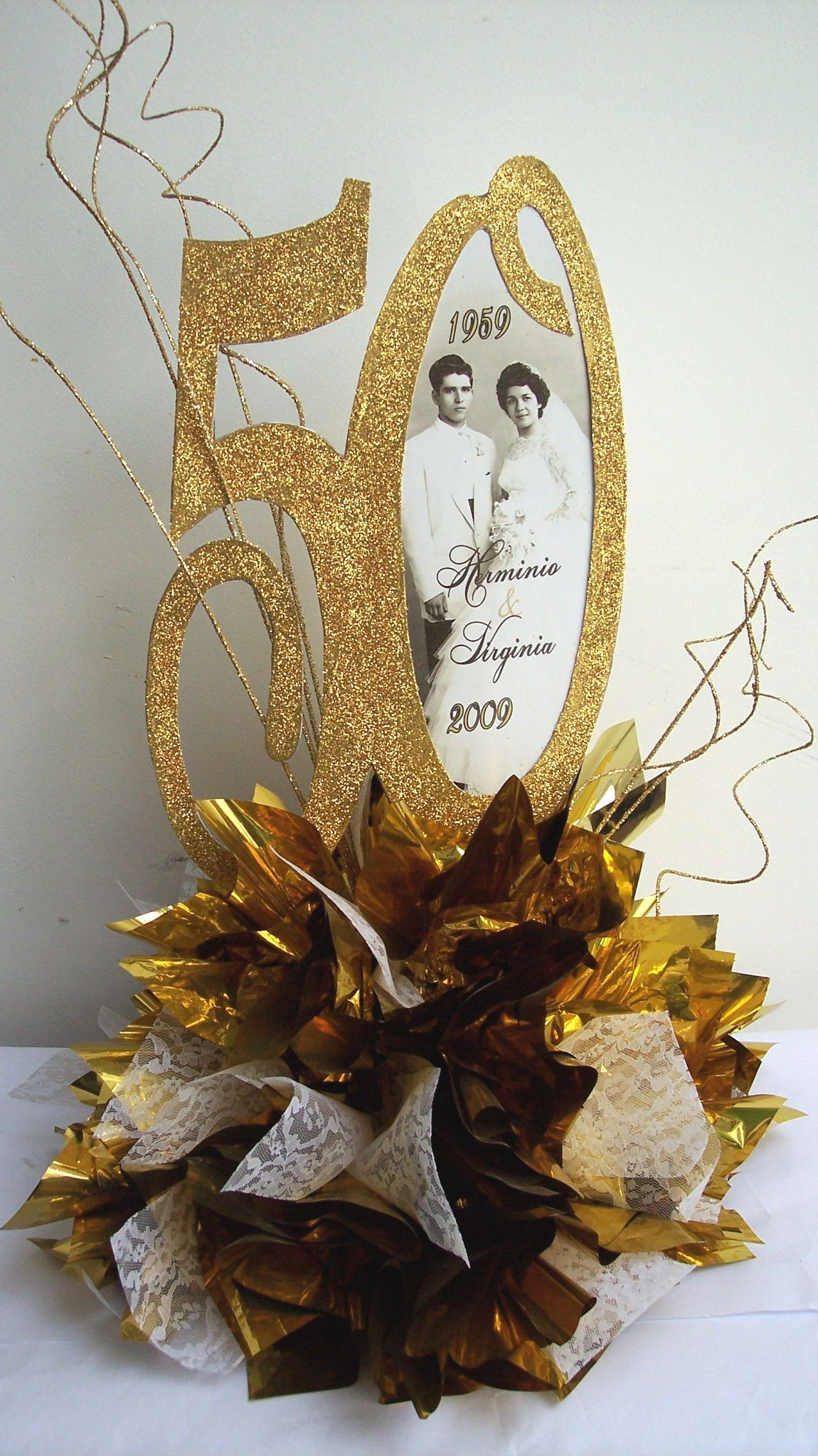 50th wedding anniversary 50th anniversary centerpieces Bing Images