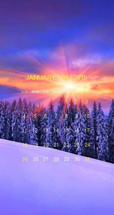 9 Beautiful iPhone Calendar Wallpapers for JANUARY! January 2015 Calendar - @mobile9 | iPhone 5 ...