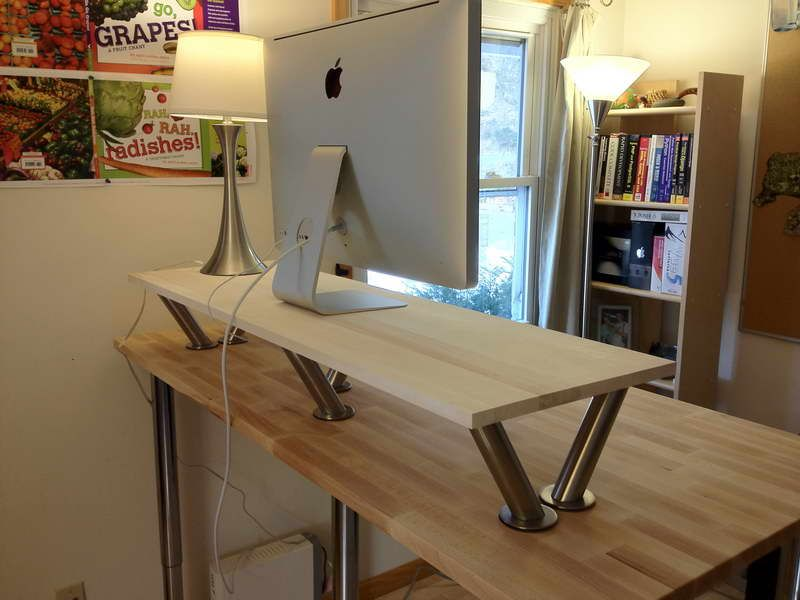 diy office classic standing desk with modern flat silver computer round white shade chrome table diy l