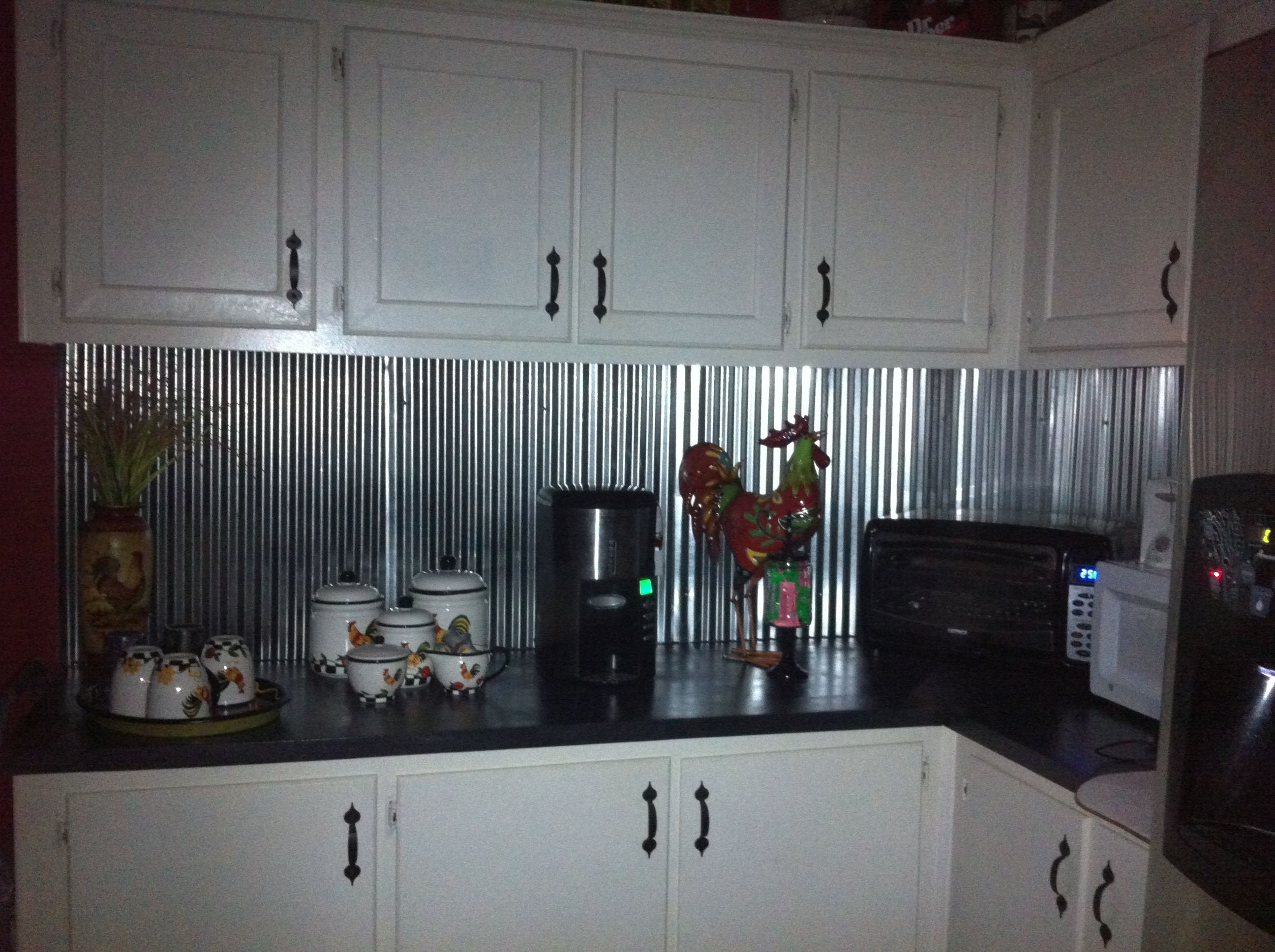 metal kitchen backsplash Corrugated metal for backsplash i want to do this looking for good ideas