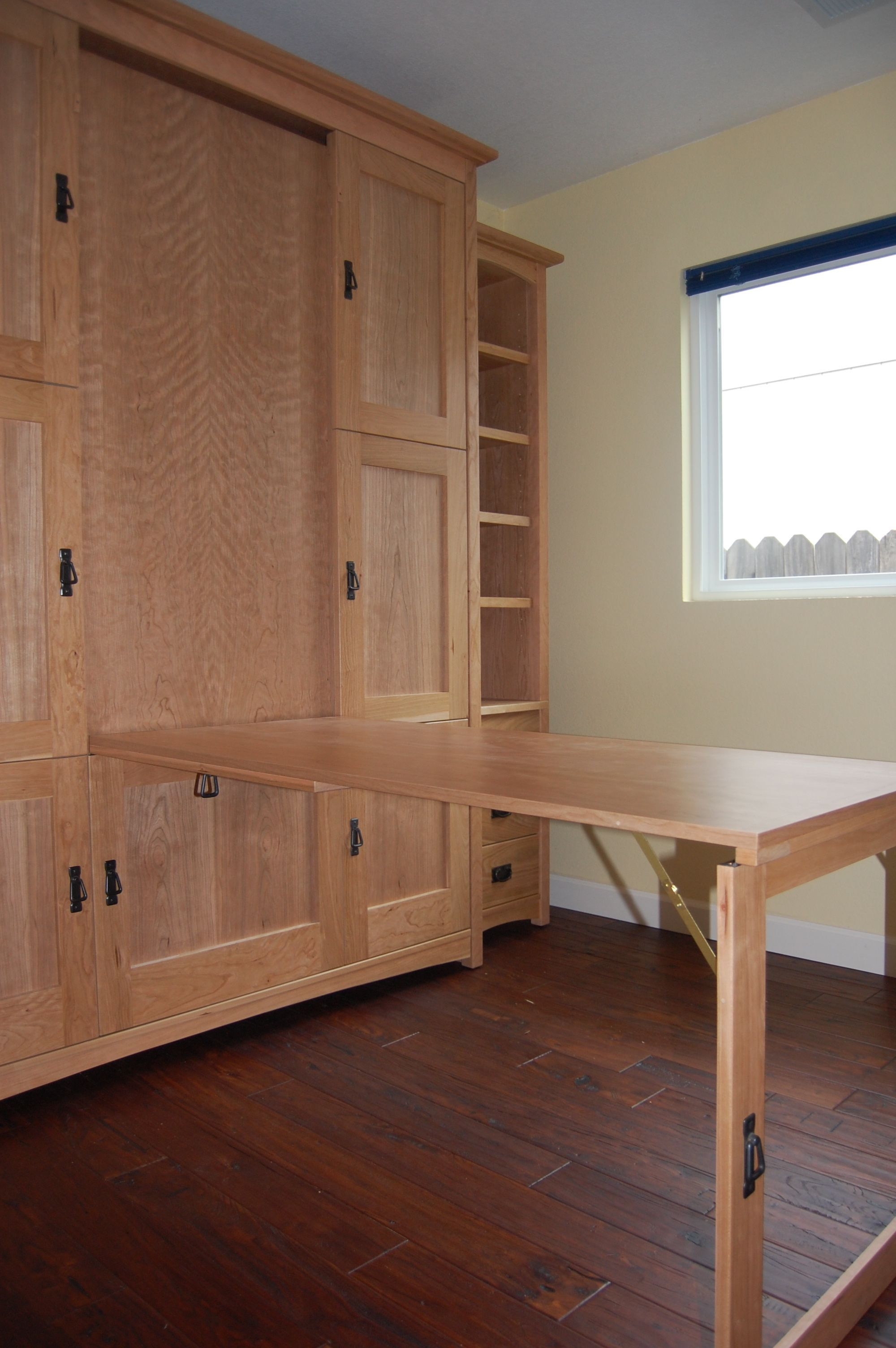 murphy kitchen table Wallbed murphy bed with hidden fold down table or desk Perfect for