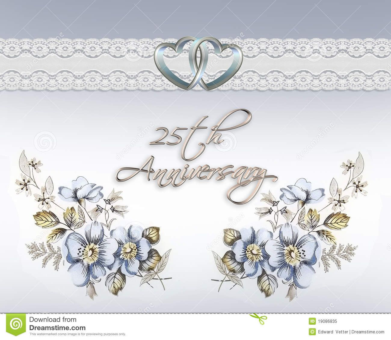 25th wedding anniversary 25th wedding anniversary cards free download Google Search