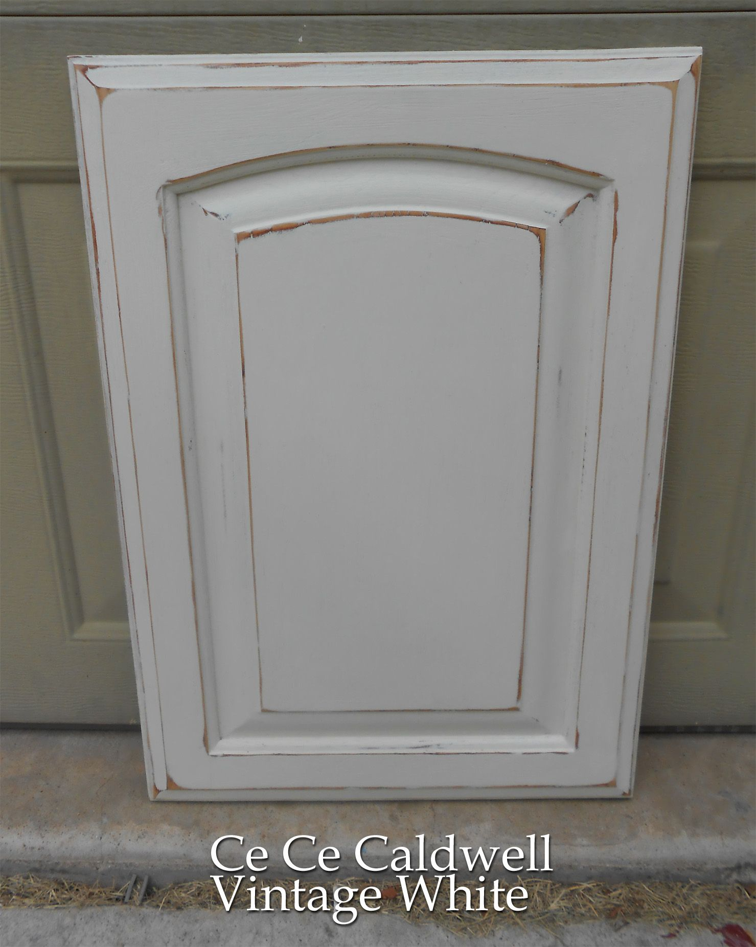 oak kitchen cabinet doors Using Chalk Paint for Oak Kitchen Cabinets test door