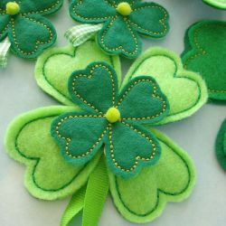 Embroidery Four Leaf Clover Flower for Machine Embroidery Sewing