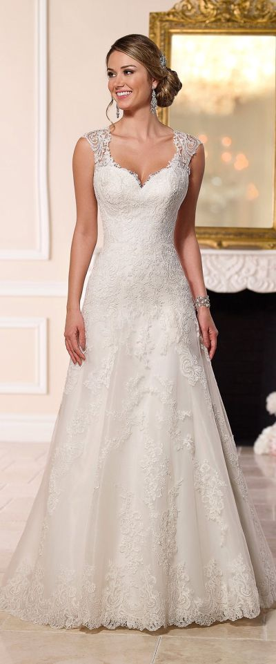 Stella York A-line lace wedding dress 2016 | Wedding ...