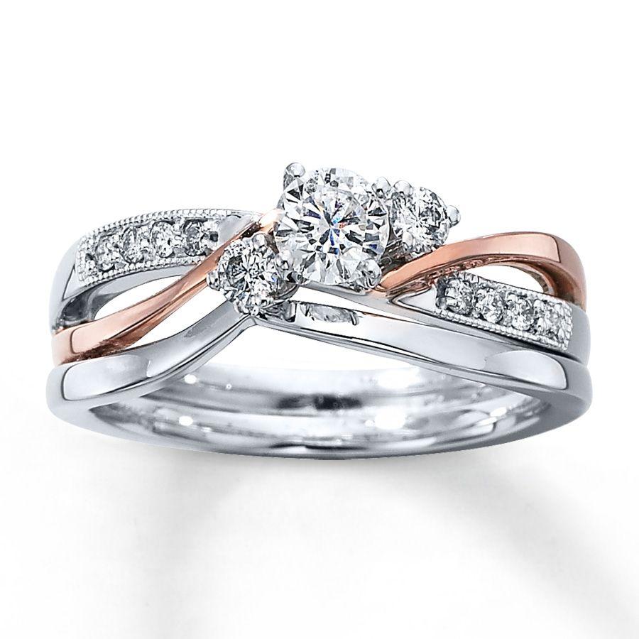 bridal wedding ring sets from Kay jewlers Diamond Bridal Set 3 8 ct tw Round cut 14K Two