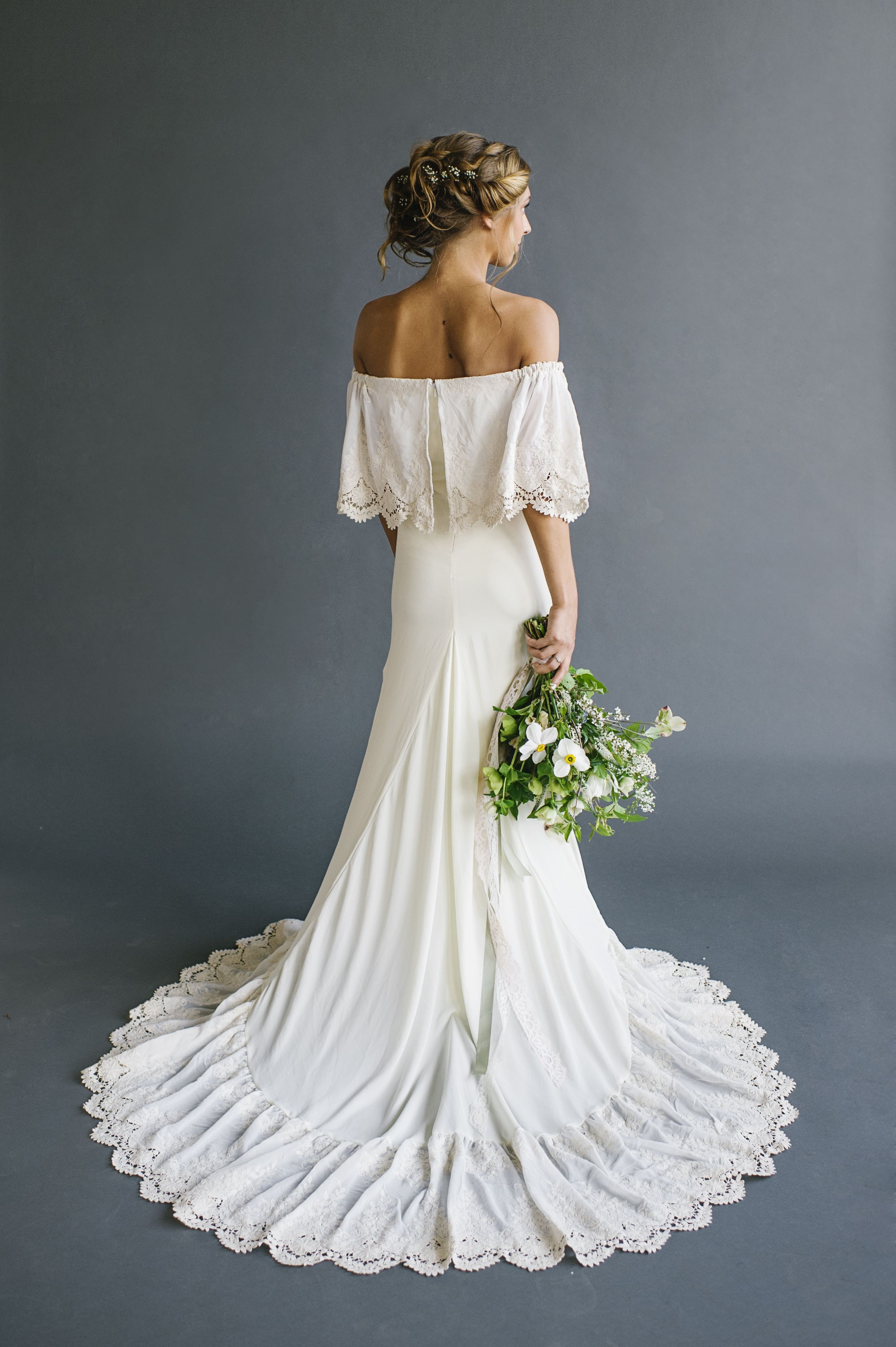boho wedding dress White Bohemian Lihi Hod Wedding Dress Collection Persian Wedding and Bohemian