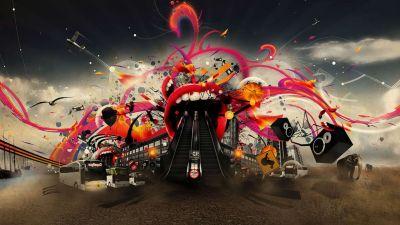Loud Concert 1080p HD Wallpaper Music | cc | Pinterest | Hd wallpaper, Rolling stones and Dj