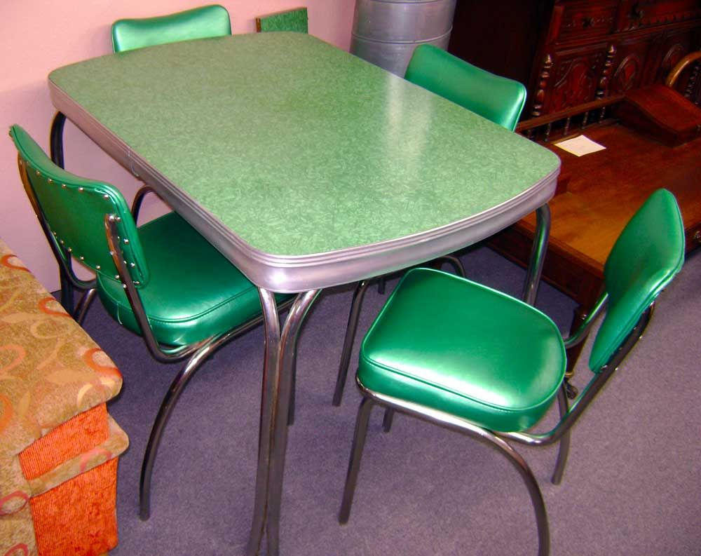 retro kitchen chairs Dining Room Funky Retro Dining Room Sets With Light Grey Dining Table And Emerald Green Dining Chairs Made From Leather Antique and Stunning Retro Dining