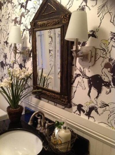 Dress your walls :: Why paper is better than paint | Powder, Feature and Room wallpaper