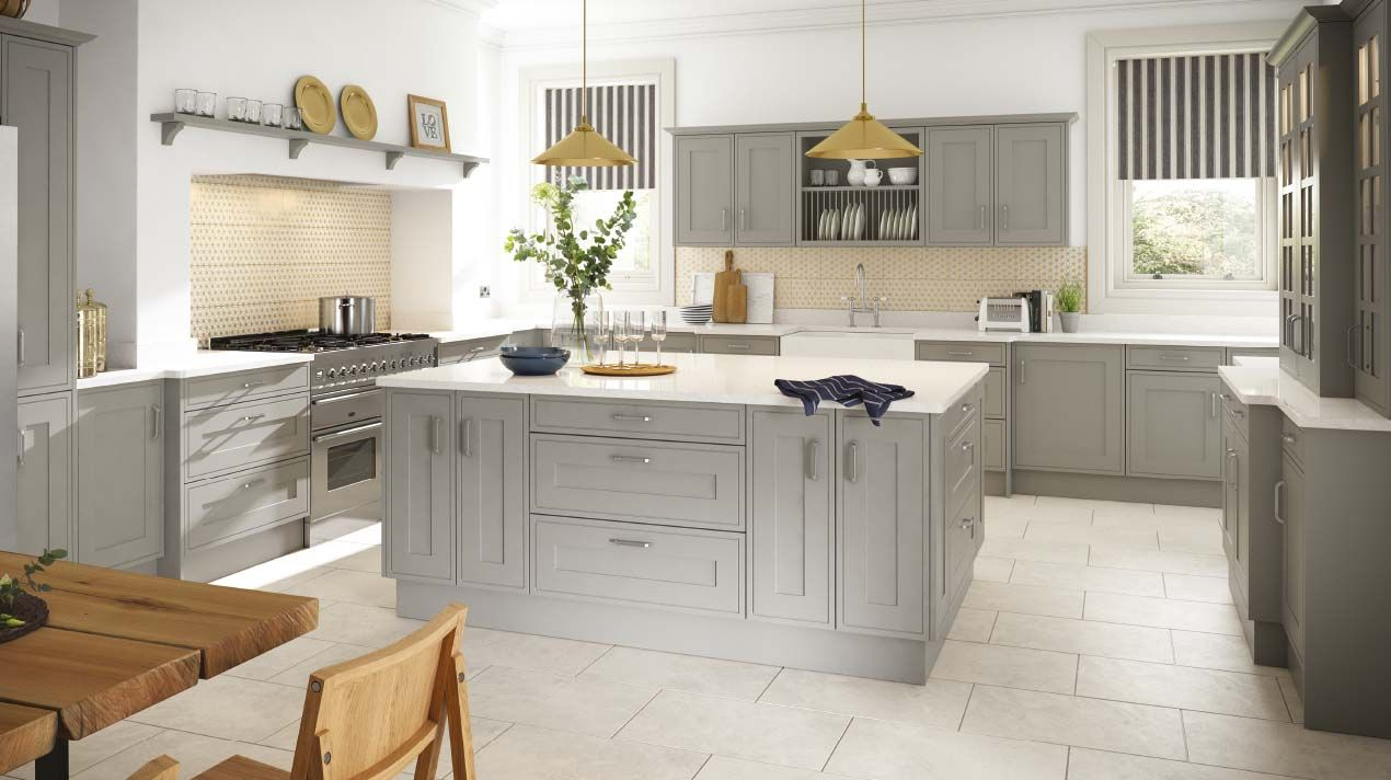shaker kitchen island The Sheraton range of elegant luxury kitchens arranged into three collections Shaker Modern Traditional