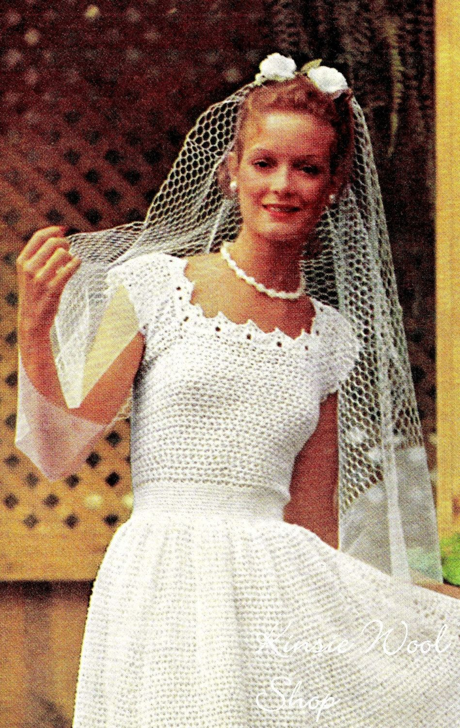 vintage wedding dress patterns Vintage CROCHET Wedding Dress Jacket PDF Pattern Wedding