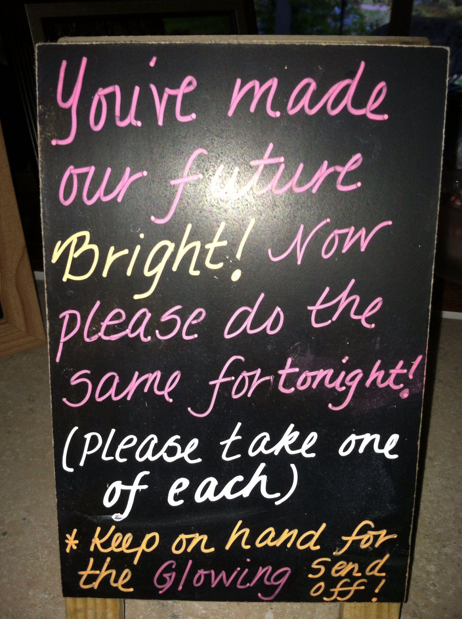 wedding send off ideas Glow stick send off