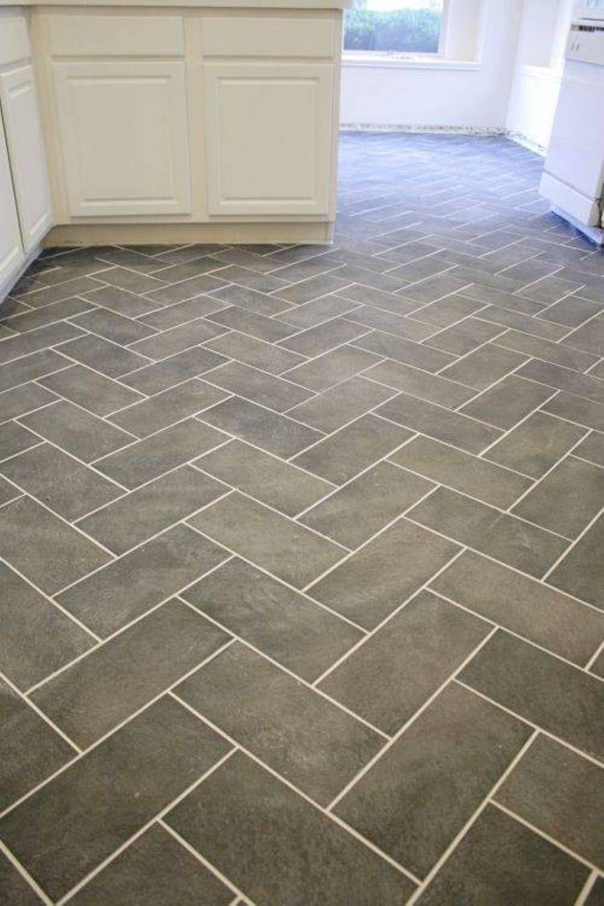 types of kitchen flooring Model of Herringbone Tile Floor Separate Different Types of