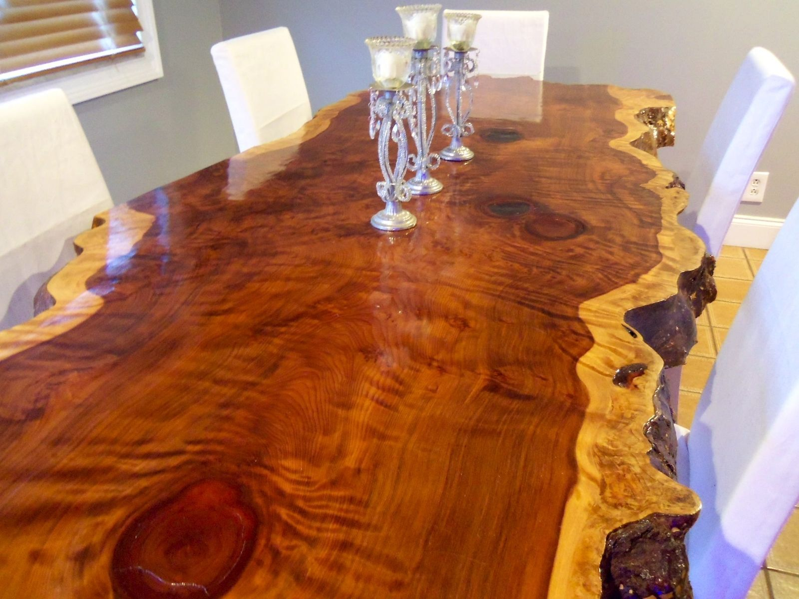 custom kitchen tables Custom Made Live Edge Redwood Kitchen Table Wood SlabKitchen Tables