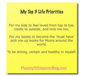 Useful Info: My Top Life Priorities. There might be lots ...