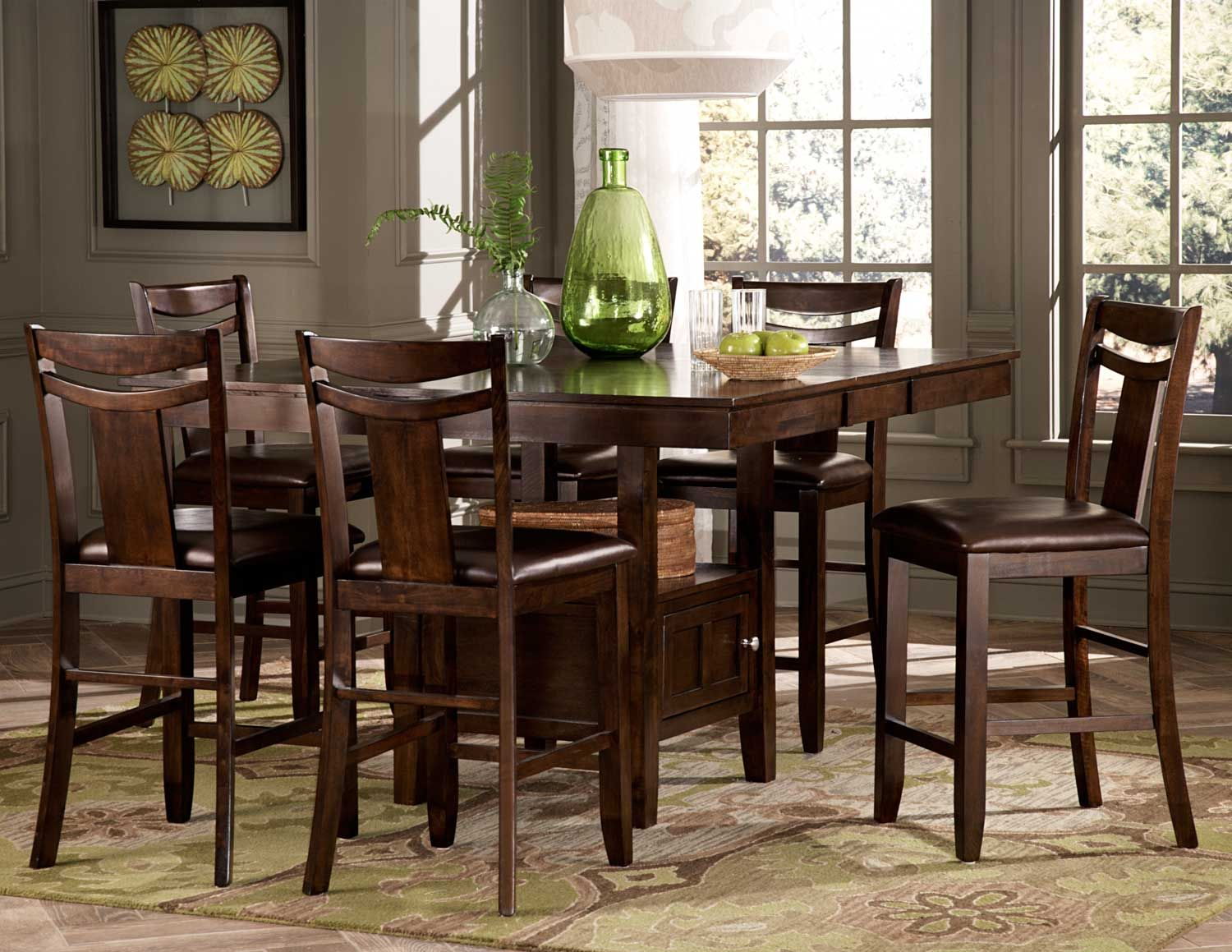 counter height kitchen table Homelegance 36 Broome Counter Height Dining Table Set
