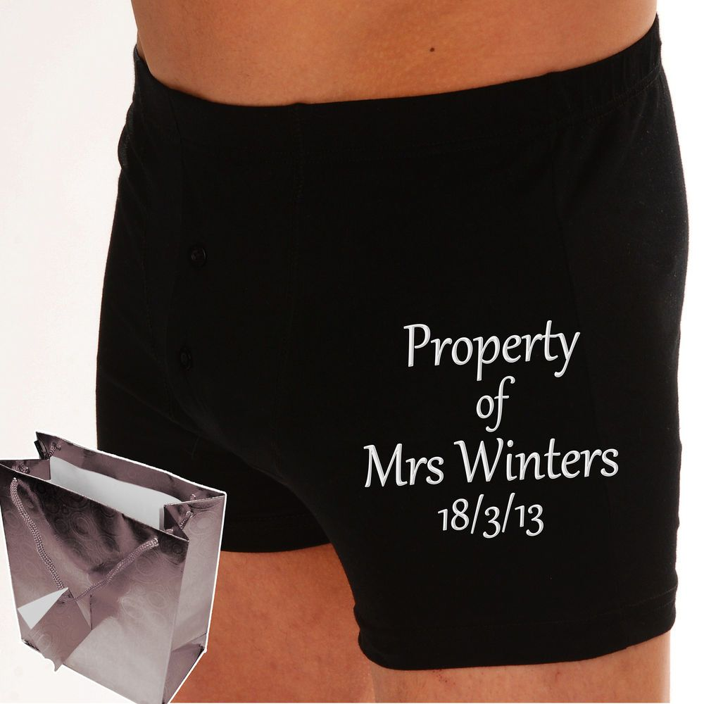 wedding gift for groom Personalised boxer shorts groom wedding gift 2nd wedding anniversary present