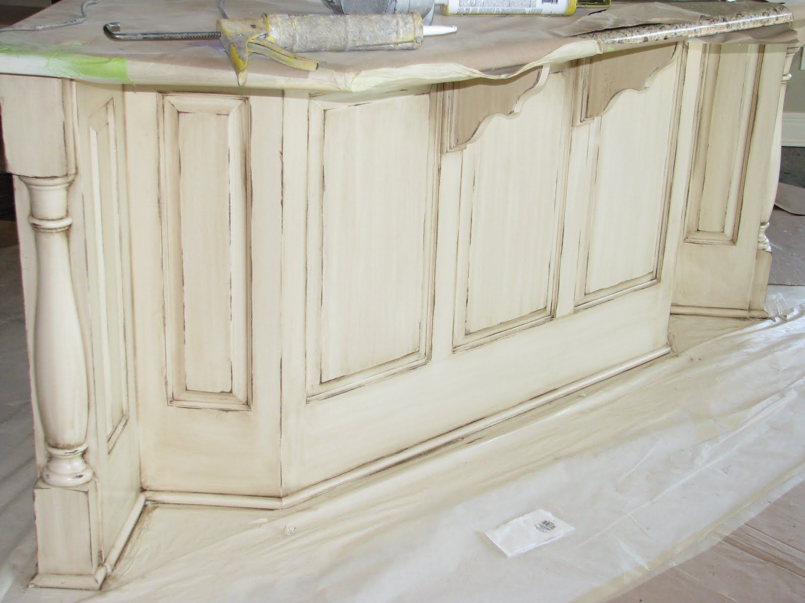 distressed kitchen cabinets Lori Caromal Colour s Her Oak Kitchen Cabinets Kitchen cabinets Cabinets and Look at