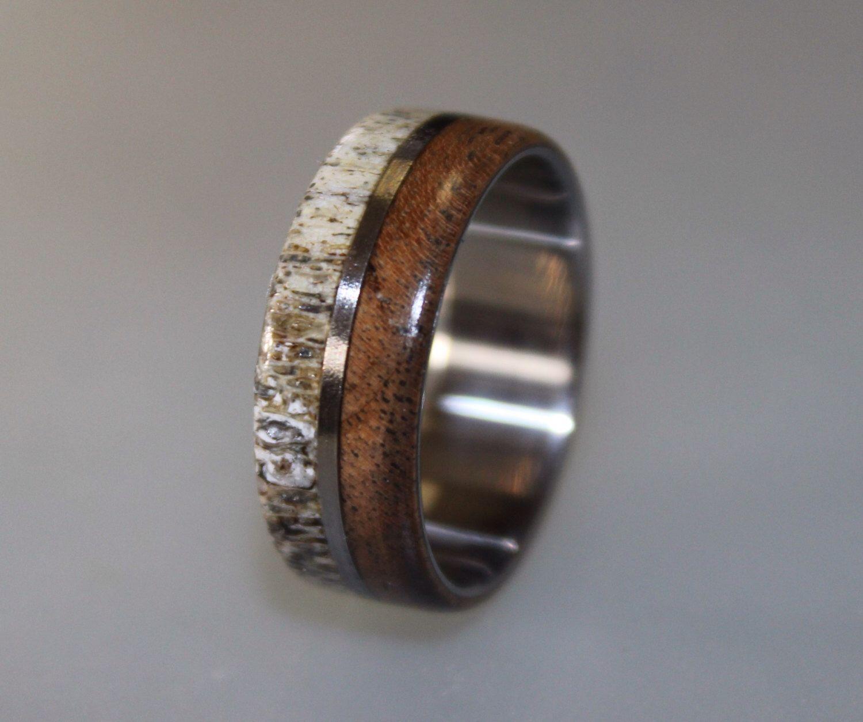 hunting wedding bands Men s Laser Carved Titanium Ultimate Deer Hunting Ring Deer hunting Jokes and Titanium rings