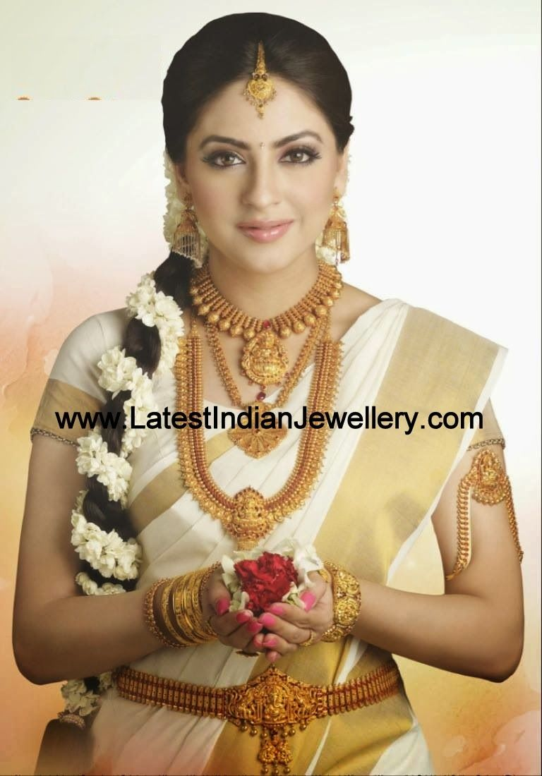 wedding jewelry sets Complete Temple Jewellery Bridal Set