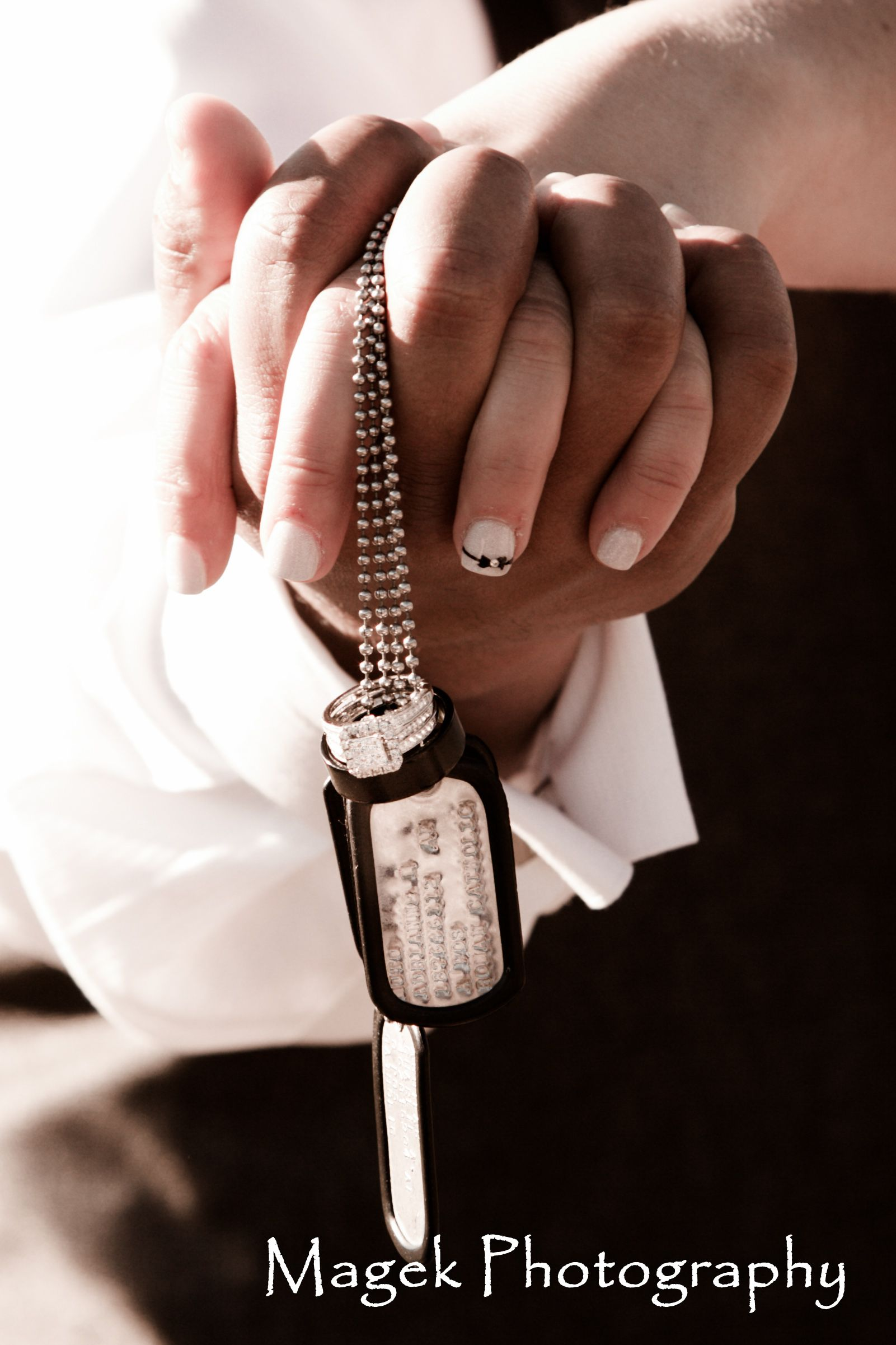military wedding rings Military tags and wedding rings Magek Photography www magekphoto com Click to see