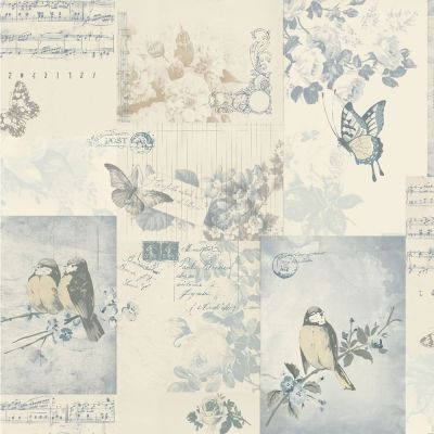 Songbird Soft Blue Wallpaper at wilko.com | wallpaper | Pinterest | Blue wallpapers, Bedrooms ...