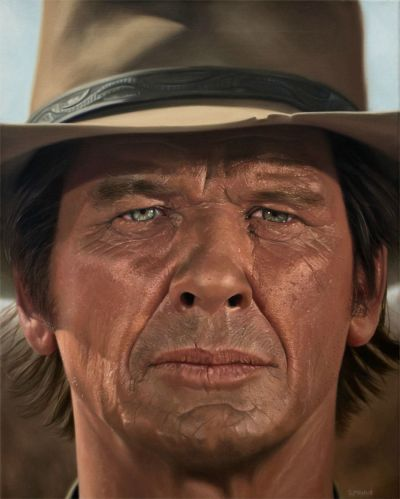 I painted Charles Bronson from Once Upon a Time in the West in oils (16