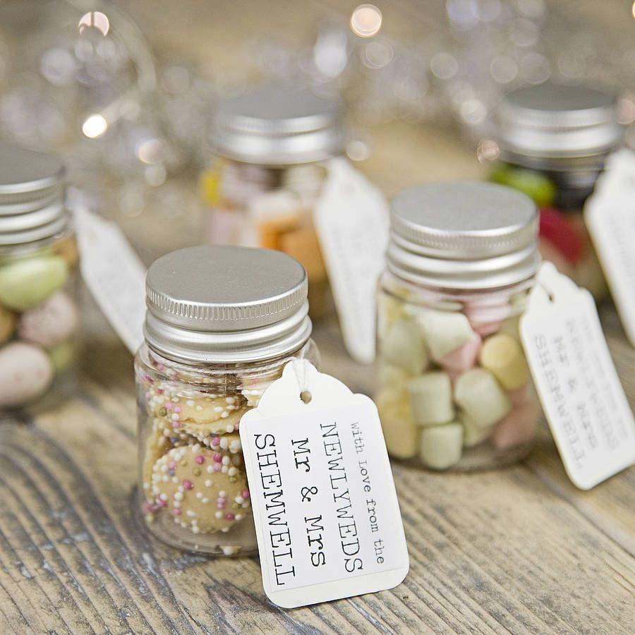 wedding favors wholesale Personalised Wedding Favour Sweetie Jar