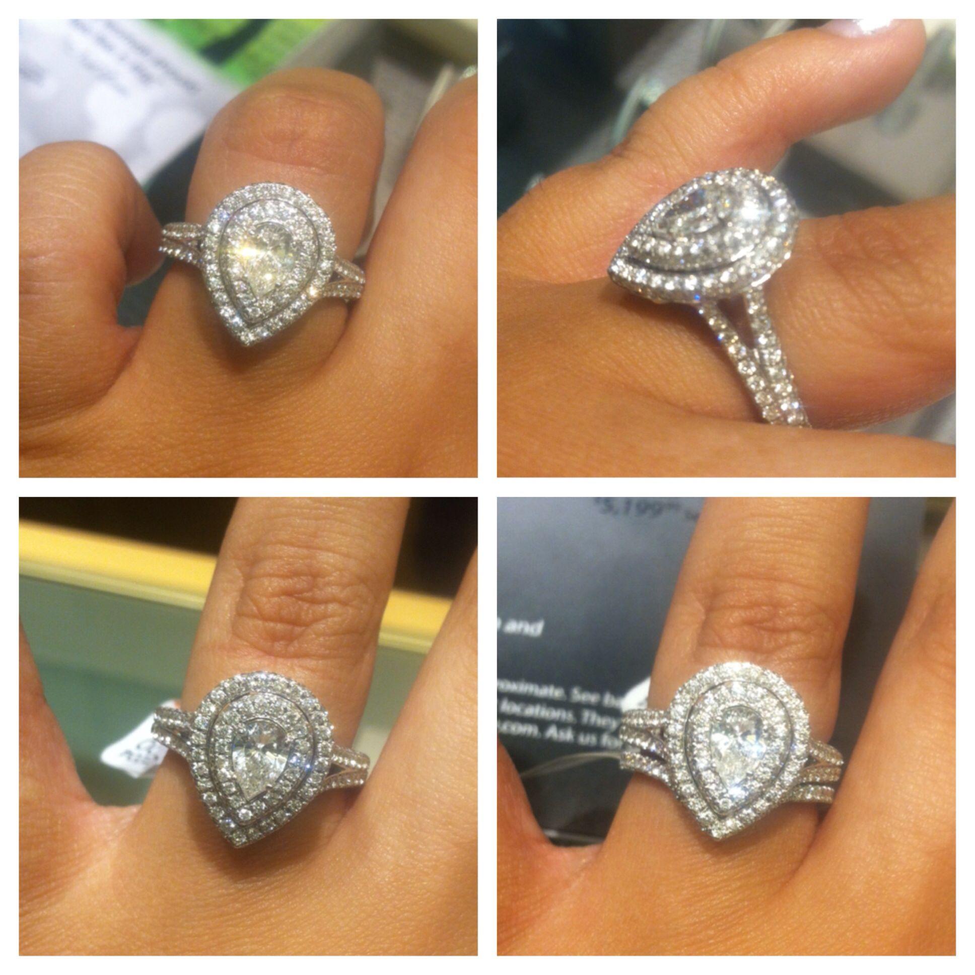 neil lane wedding bands Neil Lane Pear Shape Double Halo ring My dream ring