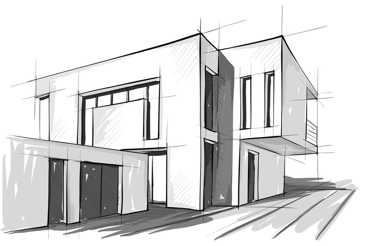 Modren Architecture Design Sketches A Inside Ideas