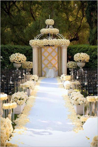 Wedding Ceremony Decoration Ideas, Wedding Aisle Designs # ...