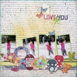 Love You Layout by Iris Babao Uy Targetas Invitaciones