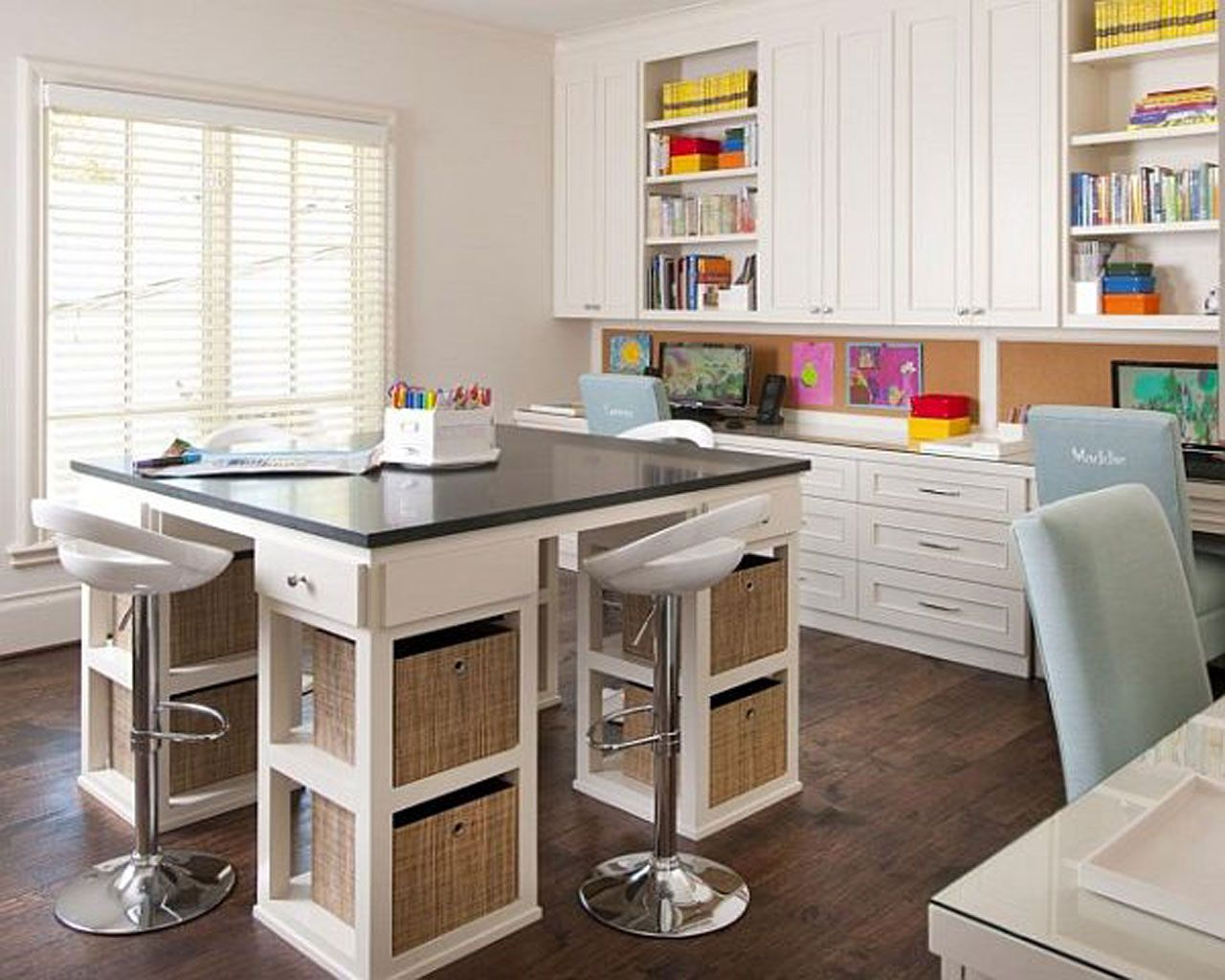 Craft room office ideas - 1000 Images About Craft Room Ideas On Pinterest Child Room And The Cabinet F