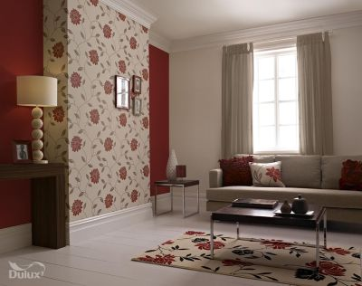 This beautiful floral is the perfect feature wall design adding a touch of glamour to any room ...