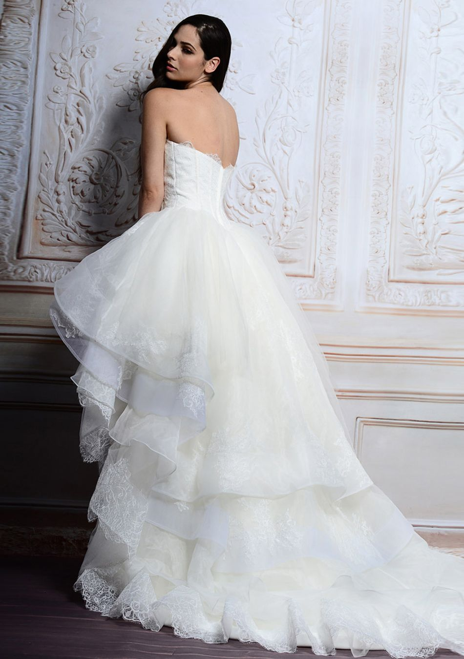 open back wedding dresses Fantastic Morden Short White Lace Ball Gown Wedding