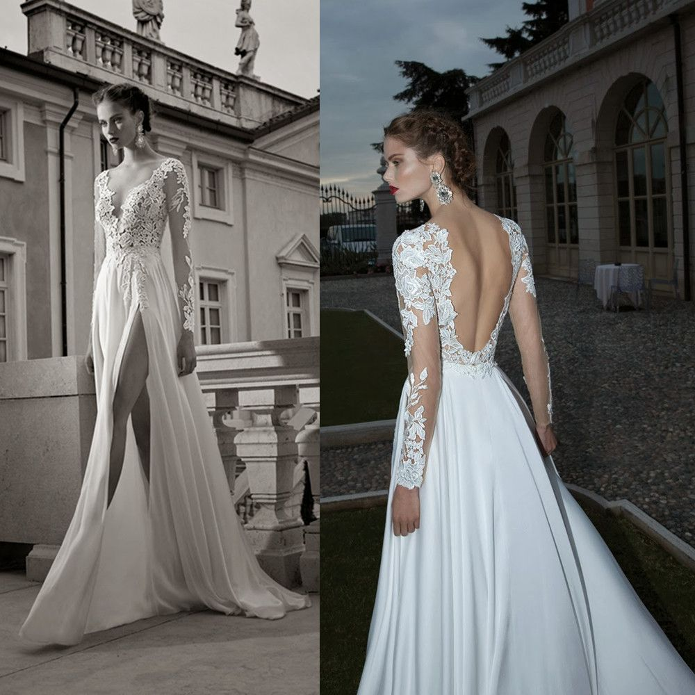 open back wedding dresses lace wedding dresses with sleeves and open back