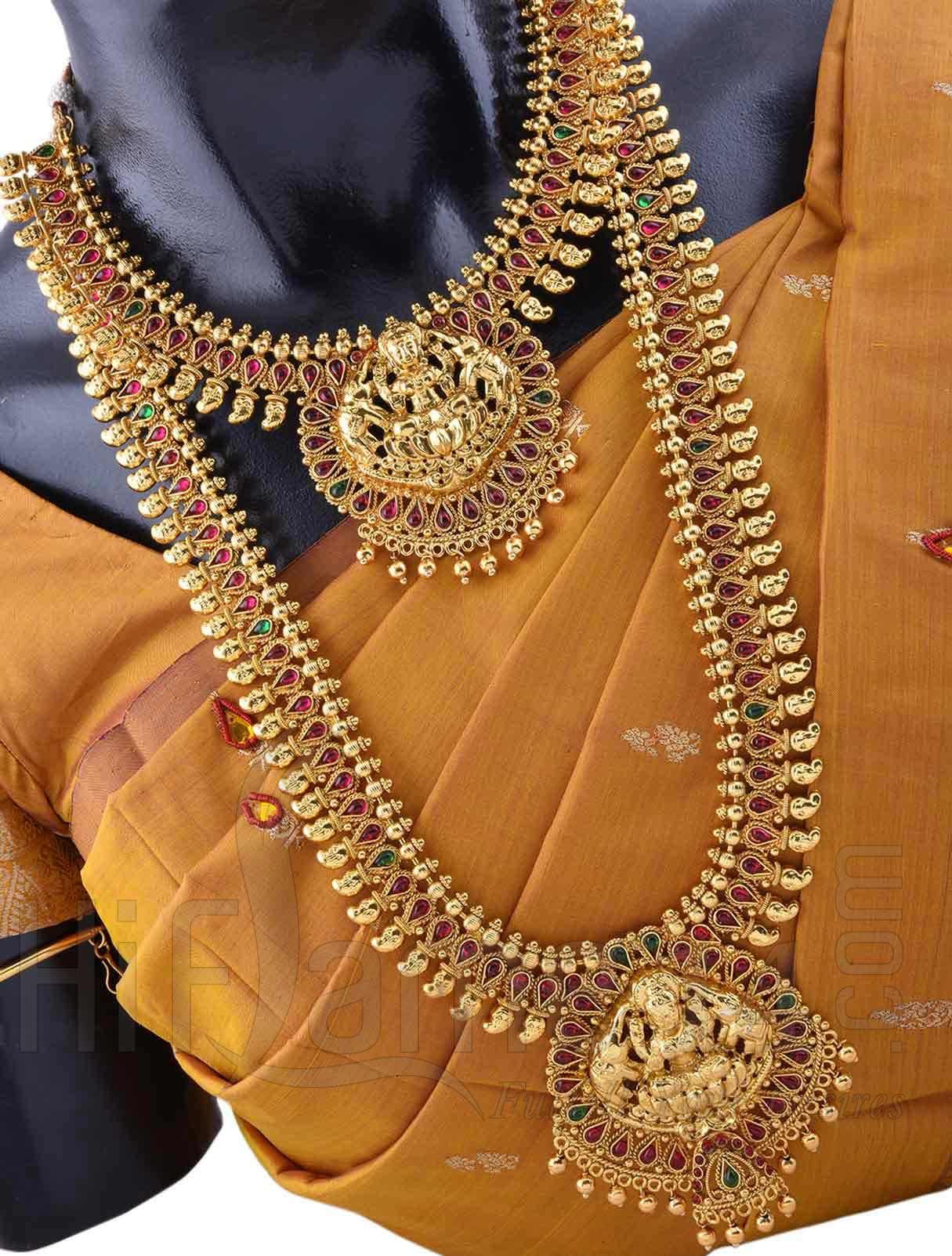 wedding jewelry sets Wedding Jewellery Set with Ashta Lakshmi Design