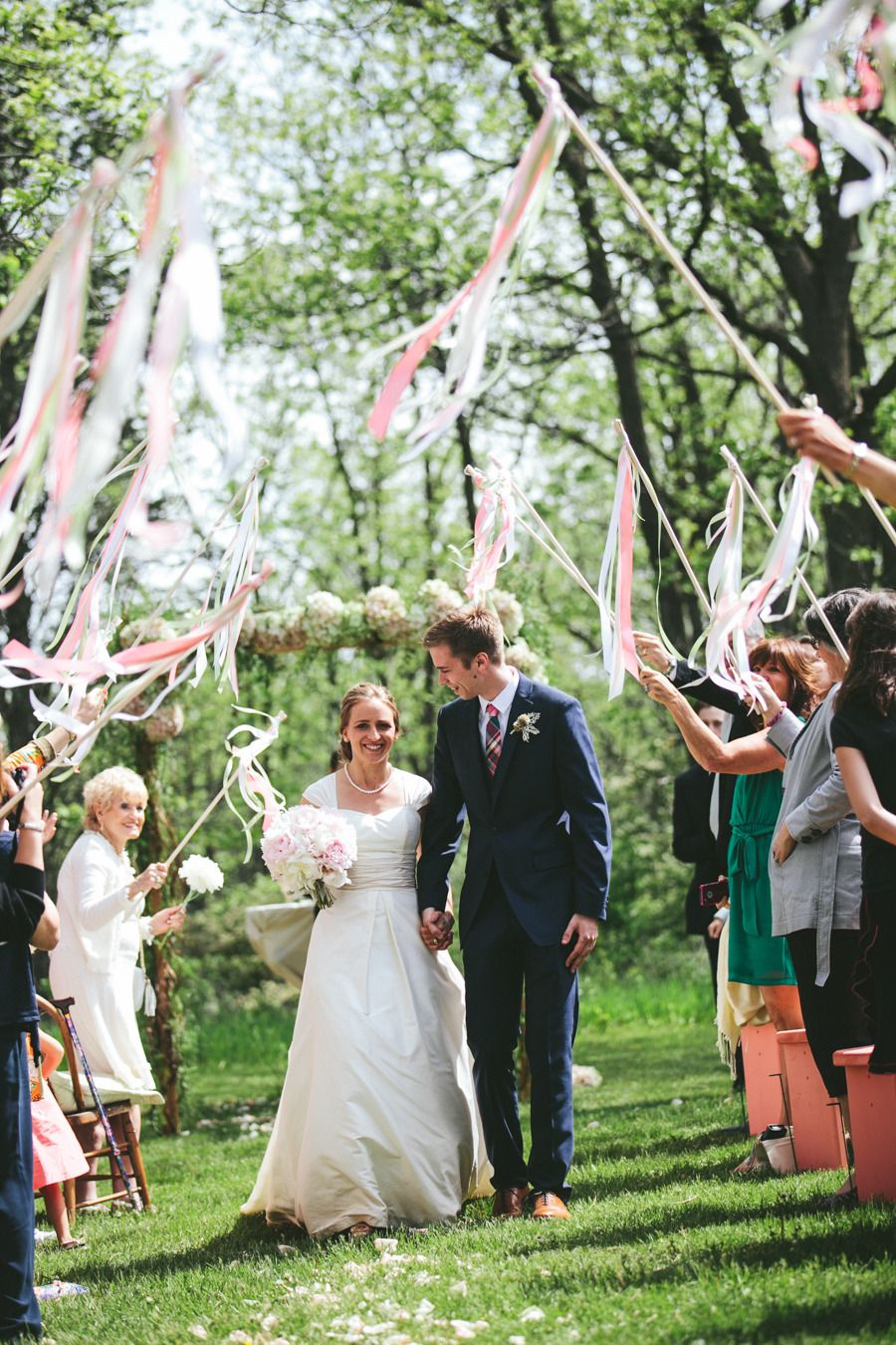 wedding send off ideas streamers happilyeverafter wedding Celebrating after the I Do s Photography by woodnotephotography