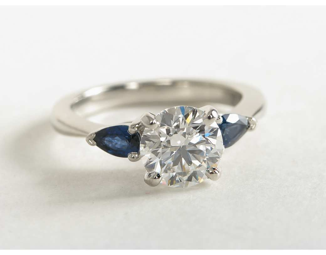 sapphire wedding rings 1 5 Carat Diamond Classic Pear Shaped Sapphire Engagement Ring Blue Nile Engagement and Wedding Rings
