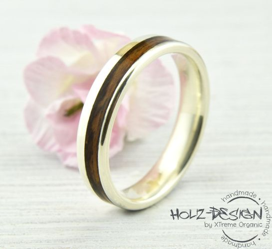 country wedding bands White Gold Engagement Ring Wedding Band with Bentwood Wooden Bands Rustic Country Wedding handmade by HolzDesignGermany