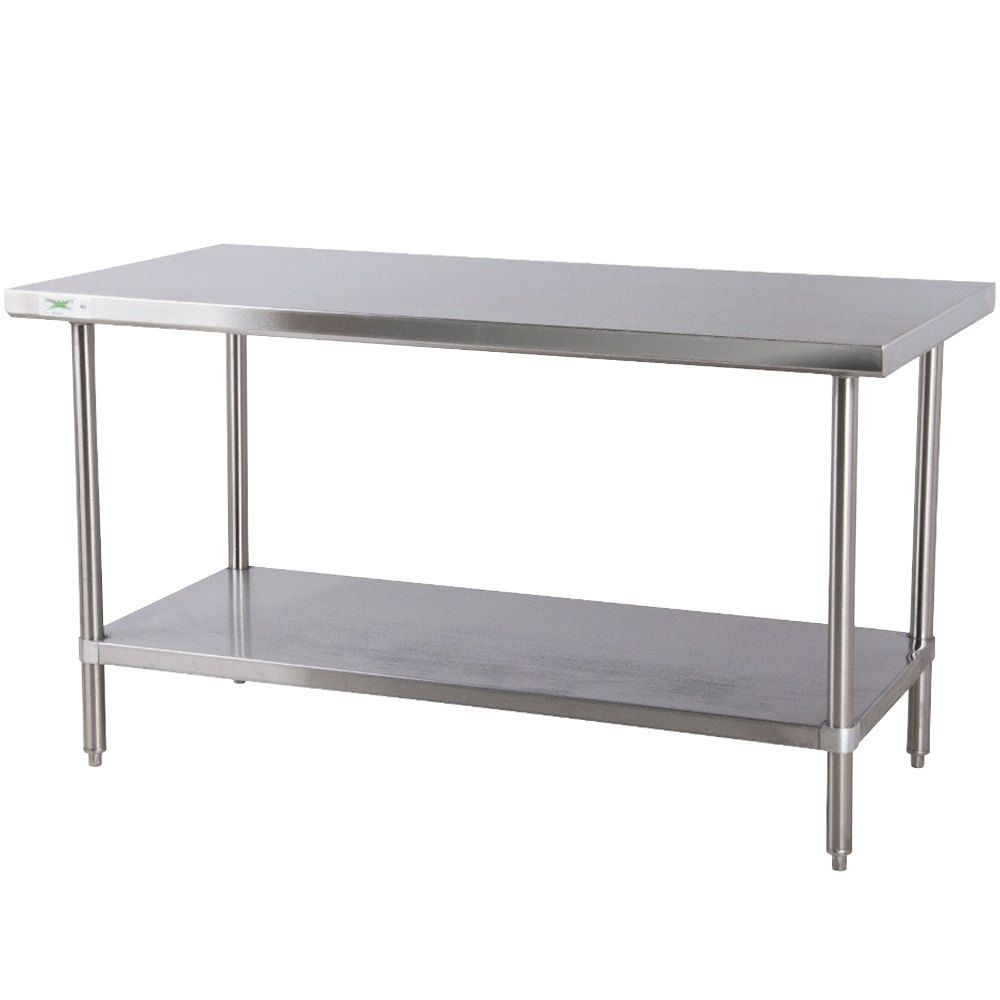 kitchen work tables Regency 30 72 16 Gauge Stainless Steel Commercial Work Table with Undershelf