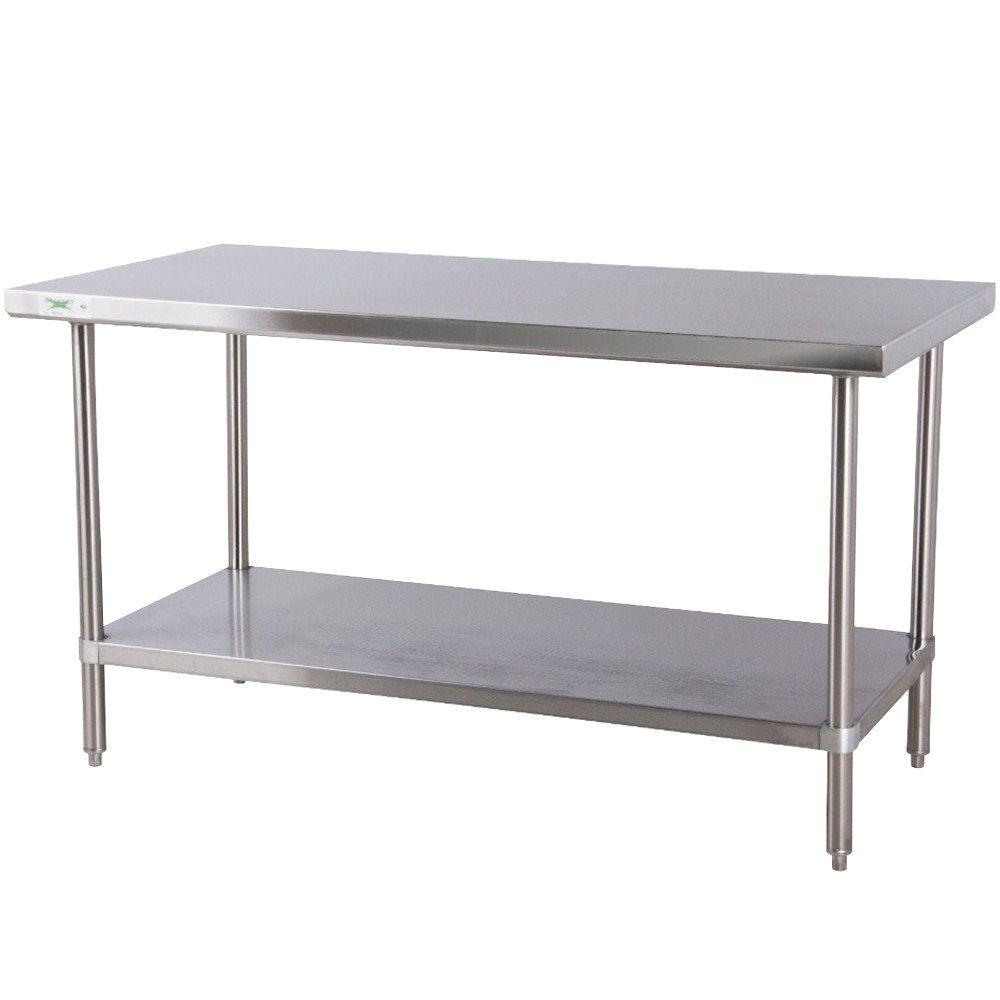 kitchen prep tables Regency 30 72 16 Gauge Stainless Steel Commercial Work Table with Undershelf Food PreparationWork SurfaceKitchen
