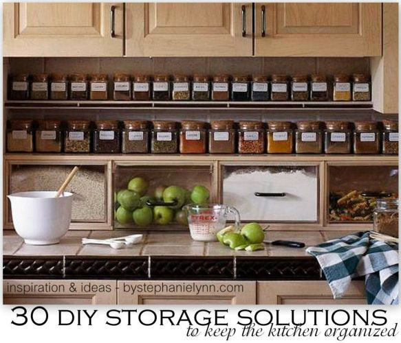 diy kitchen ideas 30 DIY Storage Solutions to Keep the Kitchen Organized Saturday Inspiration Ideas